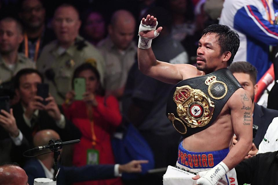 <p>Manny Pacquiao has not fought since beating Keith Thurman in 2019</p> (Getty Images)
