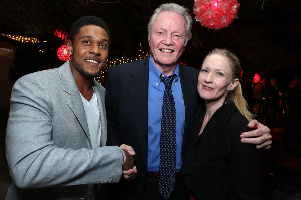 Pooch Hall, Jon Voight and Paula Malcomson at Showtime's 7th Annual Holiday Soiree on December 3, 2012 in Beverly Hills, California.