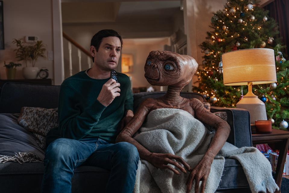 Elliott and E.T. are back together again in a new Sky advert for Christmas. (Credit: Sky)