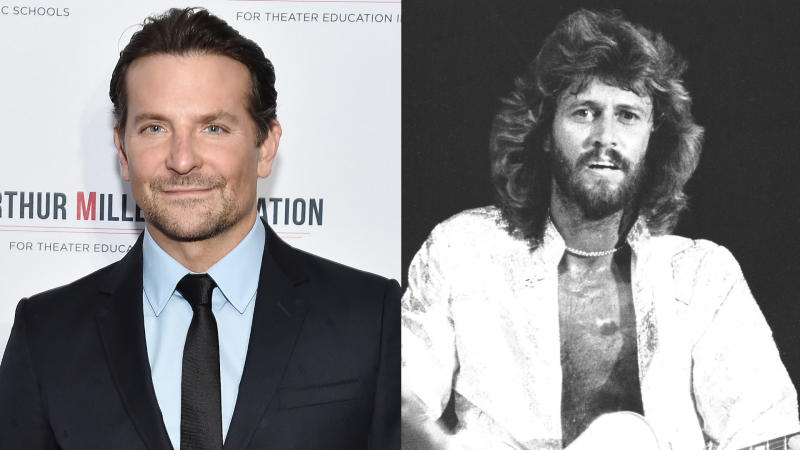 Bradley Cooper is in talks to play Bee Gees member Barry Gibb. (Credit: Steven Ferdman/Getty Images/Chris Walter/WireImage)
