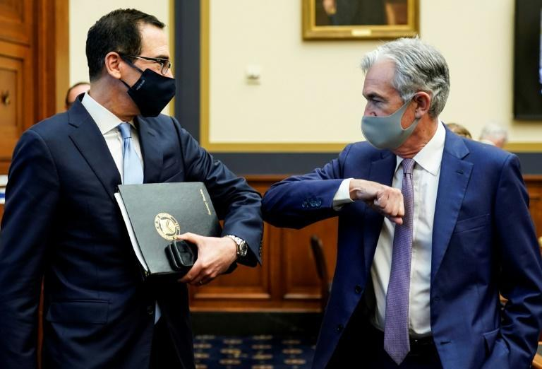 US Treasury Secretary Steven Mnuchin (left) and Federal Reserve Chair Jerome Powell (right) are testifying together before the House Financial Services Committee