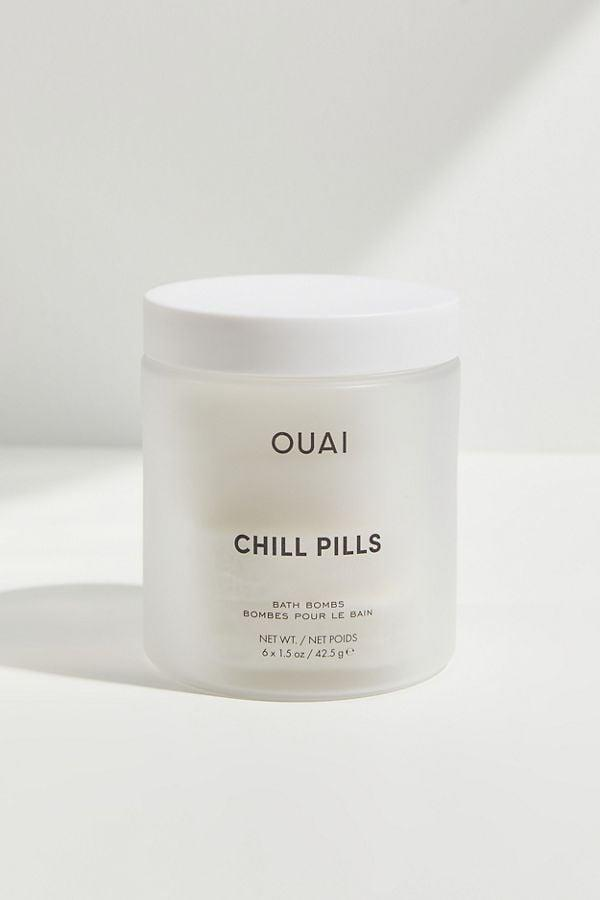 <p>My brother gave me these <span>Ouai Chill Pills Bath Bombs</span> ($30) and wow, they're great. I'm lucky enough to have a bathtub, and it's a really nice treat to soak after a long day.</p>