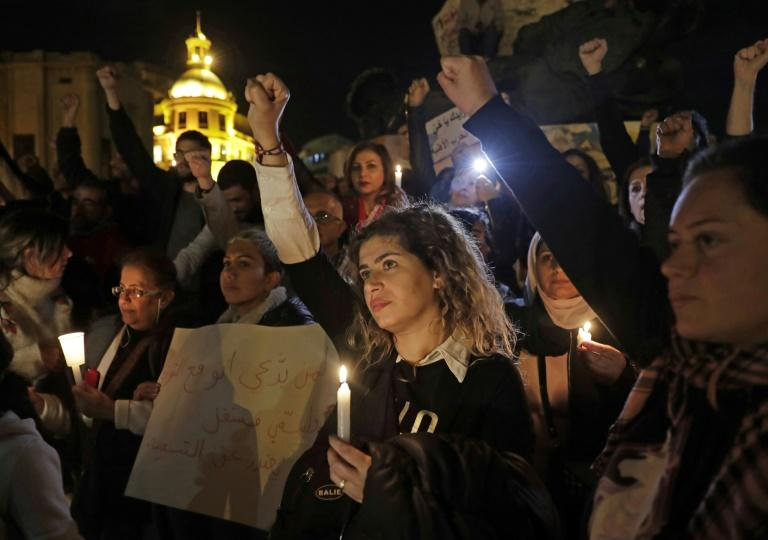 While the huge crowds that filled the squares of Lebanese cities two months ago have dwindled, the protest movement is still alive and keeping politicians in check (AFP Photo/ANWAR AMRO)
