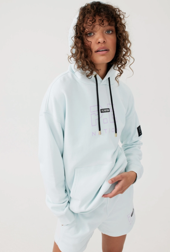 Endurance hoodie in cool aqua from P.E Nation