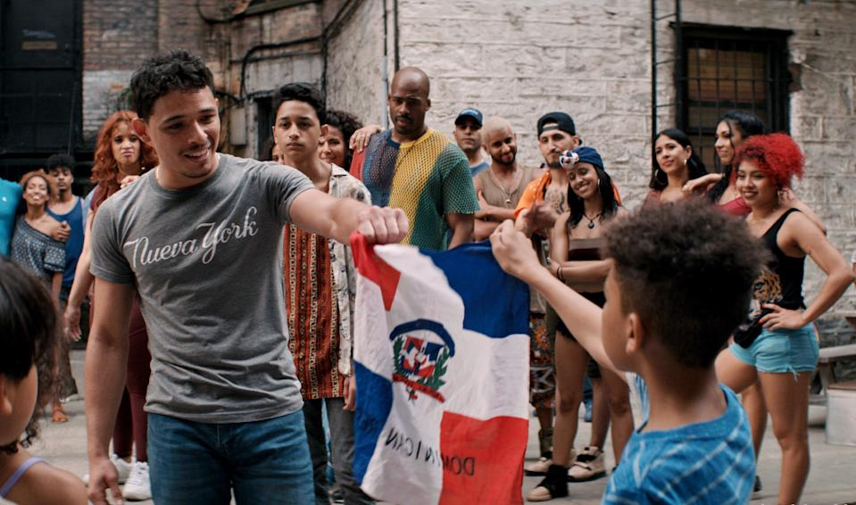 Usnavi (Anthony Ramos) in In The Heights. (Still courtesy of Warner Bros Pictures)