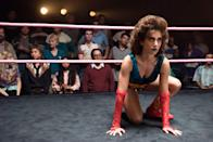 "<p>While Netflix decided not to renew <strong>Glow</strong> for a fourth and final season, it's still a must-watch, especially for anyone looking for beauty (or <a class=""link rapid-noclick-resp"" href=""https://www.popsugar.com/Halloween"" rel=""nofollow noopener"" target=""_blank"" data-ylk=""slk:Halloween"">Halloween</a>) inspiration. It's almost impossible not to be entertained by the women's wresting show - not only for its stellar cast, but also the wild wrestling personas, complete with '80s hair and dramatic makeup that might just convince you to try teal lipstick.</p>"