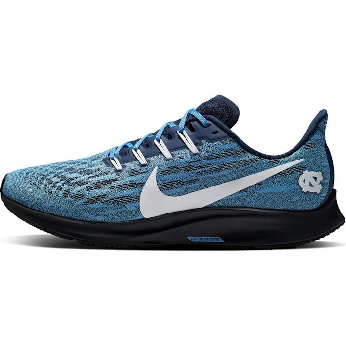 Men's Nike Carolina Blue/White North Carolina Tar Heels Air Zoom Pegasus 36 Sneakers