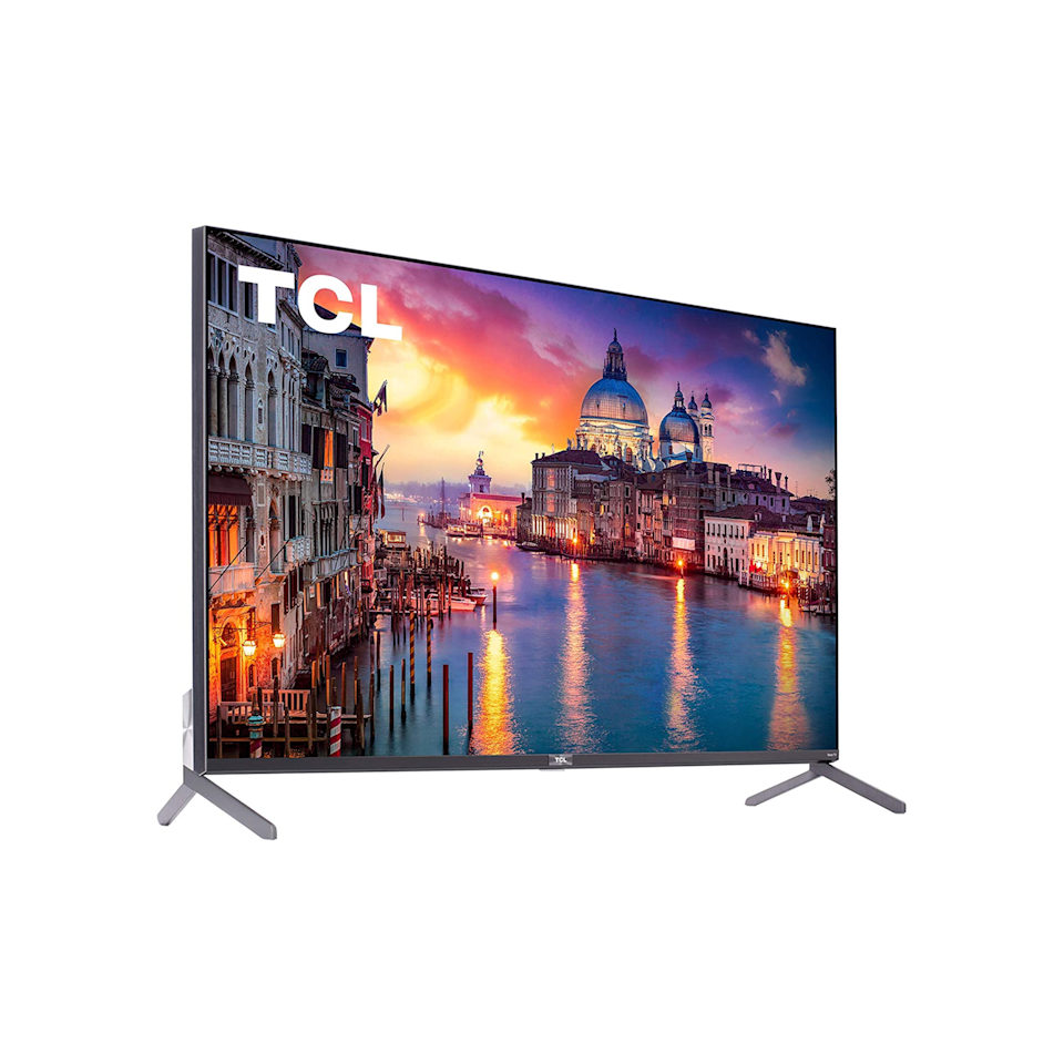 """<p><strong>TCL</strong></p><p>amazon.com</p><p><strong>$823.98</strong></p><p><a href=""""https://www.amazon.com/dp/B07V5WY147?tag=syn-yahoo-20&ascsubtag=%5Bartid%7C10055.g.35000690%5Bsrc%7Cyahoo-us"""" rel=""""nofollow noopener"""" target=""""_blank"""" data-ylk=""""slk:Shop Now"""" class=""""link rapid-noclick-resp"""">Shop Now</a></p><p>Our Lab experts and online reviewers rave about this TV set because of its <strong>vibrant and vivid color volume and ultra-clear picture</strong>. """"I recommend the TCL 6 Series because it strikes the perfect balance between good performance and not being too expensive,"""" says Rothman. The 4k Roku TV supports Netflix, Hulu, Amazon Instant Video, and YouTube. </p>"""