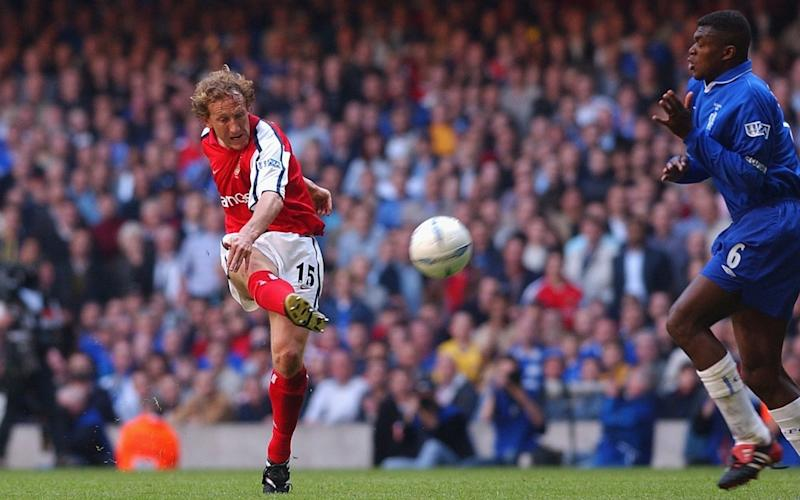 Ray Parlour scored a memorable goal in the 2002 FA Cup final - GETTY IMAGES
