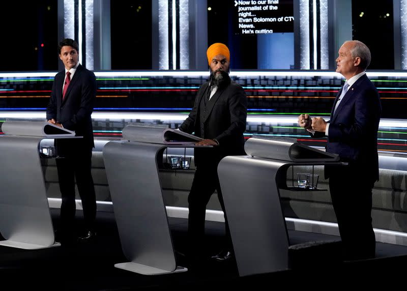 FILE PHOTO: Federal election leaders debate in Gatineau, Quebec, Canada