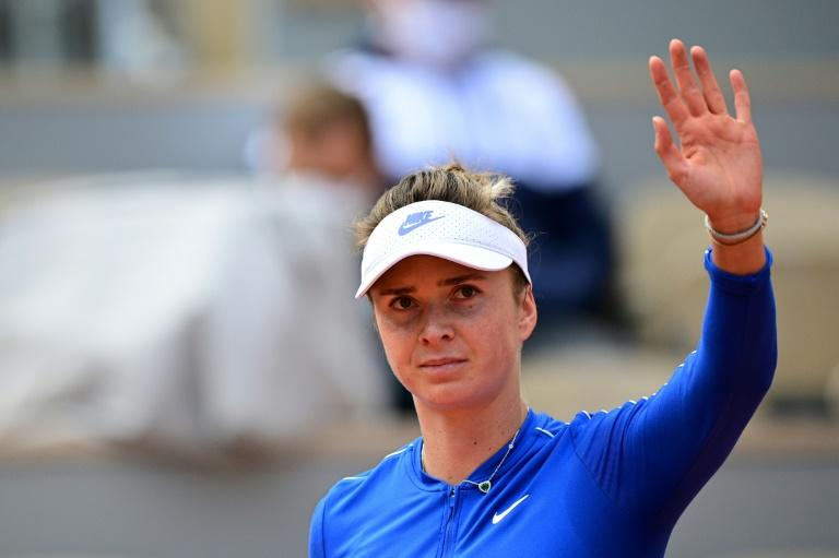 Ukraine's Svitolina playing love match for France