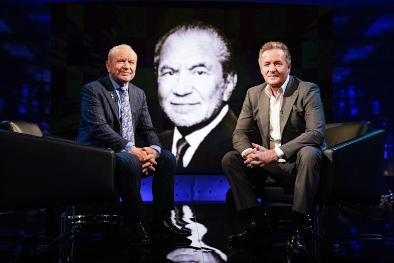 Lord Alan Sugar appears in the latest series of Piers Morgan's Life Stories (Photo: ITV)