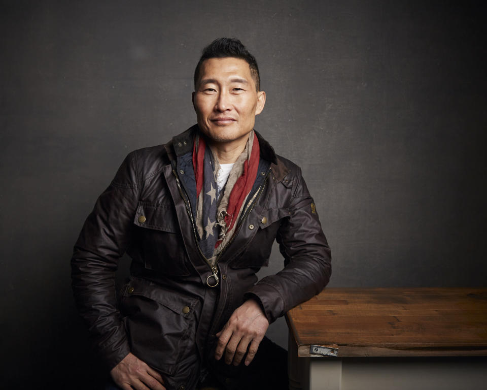 """FILE - In this Jan. 26, 2020 file photo, Daniel Dae Kim poses for a portrait to promote the film """"Blast Beat"""" at the Music Lodge during the Sundance Film Festival in Park City, Utah. The PBS documentary series """"Asian Americans"""" that airs next week is a sweeping look at their impact on society, politics and pop culture between the mid-19th century and 9/11. The show features reflections from people like U.S. Sen. Tammy Duckworth and """"Fresh Off the Boat"""" star Randall Park. It's co-narrated by Kim. (Photo by Taylor Jewell/Invision/AP)"""