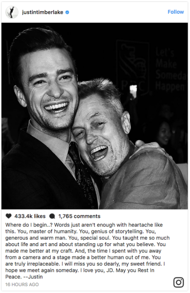 """Springsteen: """"He was an inspiration for me, a beautiful filmmaker and a great spirit."""""""