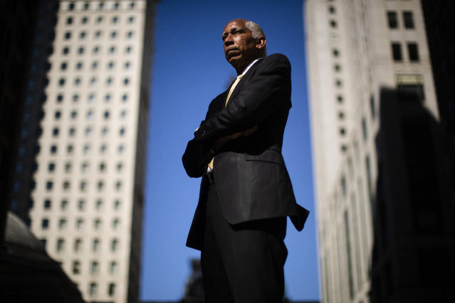 """Robert Vance poses for a portrait in Philadelphia on Tuesday, Sept. 17, 2019. Vance, an attorney who has specialized in employment discrimination cases for four decades, says the Times Up Legal Defense Fund is allowing him to help harassment victims who never could have paid legal bills on their own. """"Sexual harassment cases are difficult to do, because clients often have been fired and have no financial resources,"""" Vance said. """"The fund is wonderful because you can devote as much time as the case requires."""" (AP Photo/Matt Rourke)"""