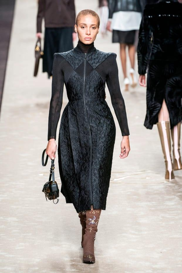 <p>A look from the Fendi Fall 2019 collection. Photo: Imaxtree</p>