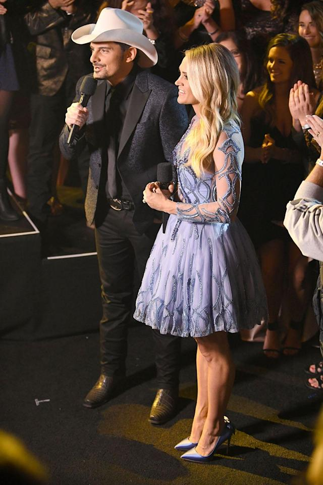 The singer wore satin periwinkle shoes to match (Photo: SplashNews)