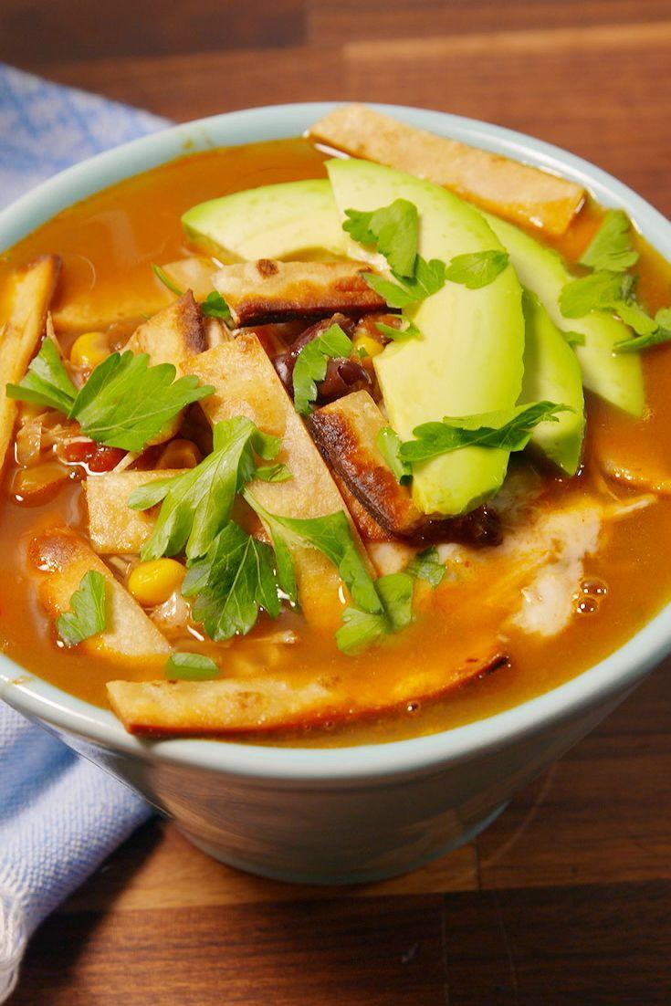 """<p>Warm yourself up with this hearty soup.</p><p>Get the recipe from <a href=""""https://www.delish.com/cooking/recipe-ideas/recipes/a51825/best-slow-cooker-chicken-tortilla-soup-recipe/"""" rel=""""nofollow noopener"""" target=""""_blank"""" data-ylk=""""slk:Delish"""" class=""""link rapid-noclick-resp"""">Delish</a>.</p>"""