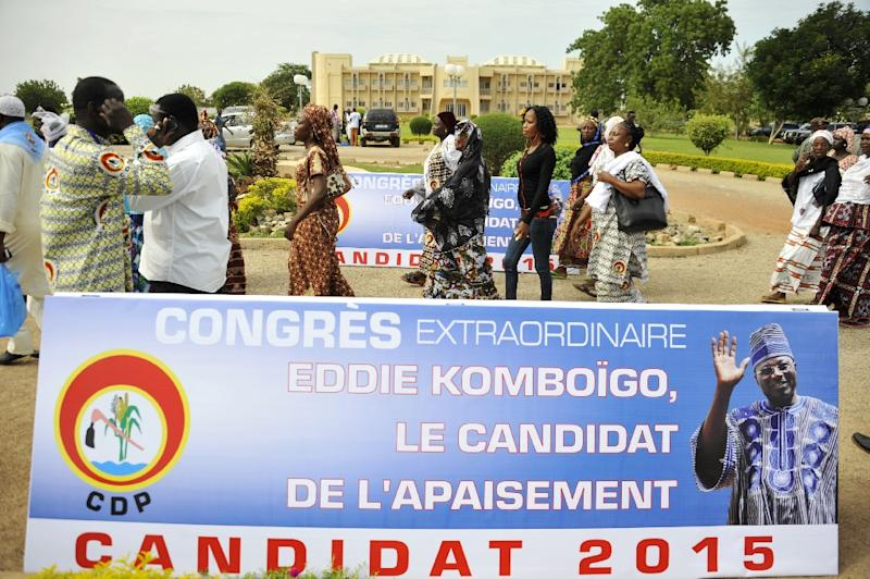 Supporters of the CDP Party arrive for a party congress on July 11, 2015 in Ouagadougou (AFP Photo/Ahmed Ouoba)