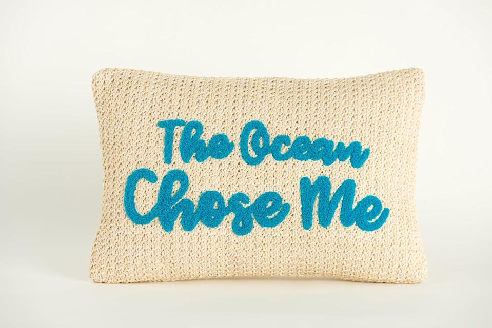 <p>If they love the ocean like it's their second home, they'll adore this <span>Disney Princess X POPSUGAR Moana The Ocean Chose Me Decor Pillow</span> ($20).</p>