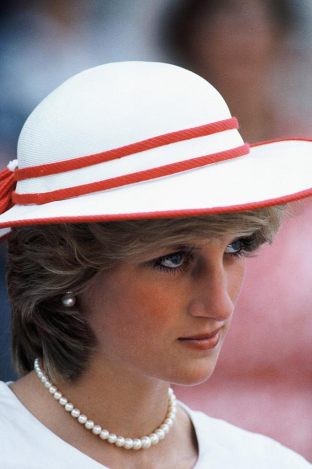<p>Princess Diana was photographed on her first visit to Canada in 1983. </p>