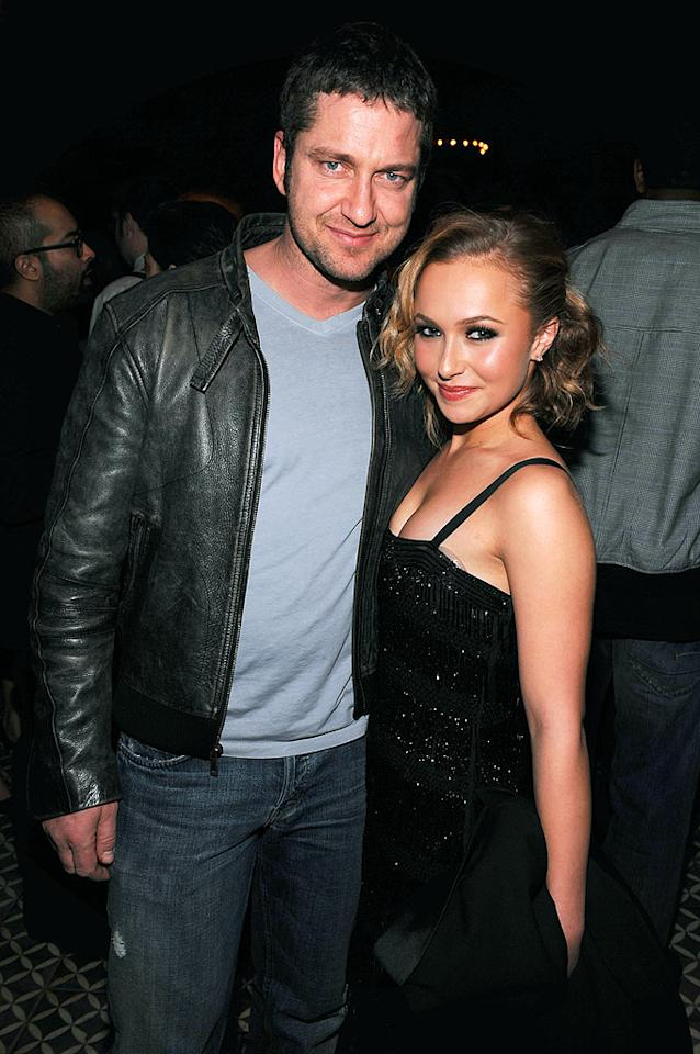 """Gerard Butler and Hayden Panettiere pose inside the Bowery Hotel in New York City for Victoria Secret's 2009 What Is Sexy? List Party. Dimitrios Kambouris/<a href=""""http://www.wireimage.com"""" target=""""new"""">WireImage.com</a> - February 11, 2009"""