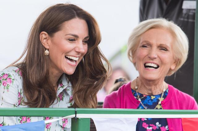 The Duchess of Cambridge was joined by the former Great British Bake Off judge at RHS Garden Wisley in September [Image: Getty]