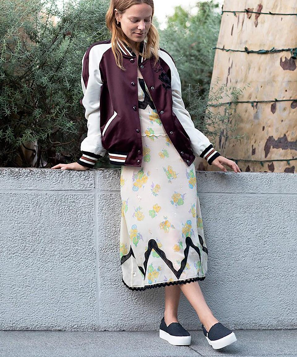 """<h3><a href=""""https://www.toms.com/women/black-heritage-canvas-platform-womens-boardwalk-classics-venice-collection"""" rel=""""nofollow noopener"""" target=""""_blank"""" data-ylk=""""slk:Toms Heritage Canvas Platform"""" class=""""link rapid-noclick-resp"""">Toms Heritage Canvas Platform</a><br></h3><br>""""Toms. Easy to get on and off, and they're cozy!"""" – <em>Kia, travels monthly</em><br><br><strong>TOMS</strong> Black Heritage Canvas Platform Women's Boardwalk Classics Venice Collection, $, available at <a href=""""https://www.toms.com/women/black-heritage-canvas-platform-womens-boardwalk-classics-venice-collection"""" rel=""""nofollow noopener"""" target=""""_blank"""" data-ylk=""""slk:TOMS Shoes"""" class=""""link rapid-noclick-resp"""">TOMS Shoes</a>"""