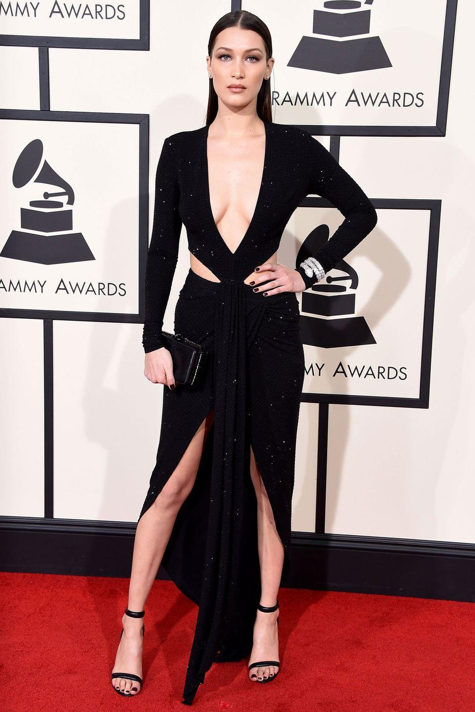<p>In a Alexandre Vauthier Haute Couture gown at the 58th Grammy Awards in Los Angeles.</p>