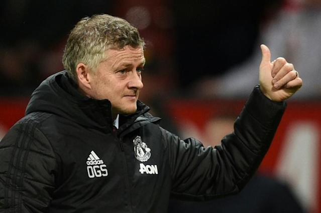 Manchester United manager Ole Gunnar Solskjaer says the club are on the 'right track' (AFP Photo/Oli SCARFF )