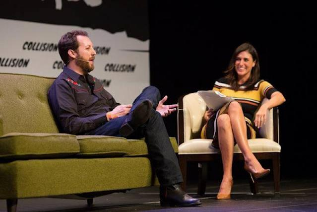 Investor Chris Sacca (left) at the Collision Conference in New Orleans.