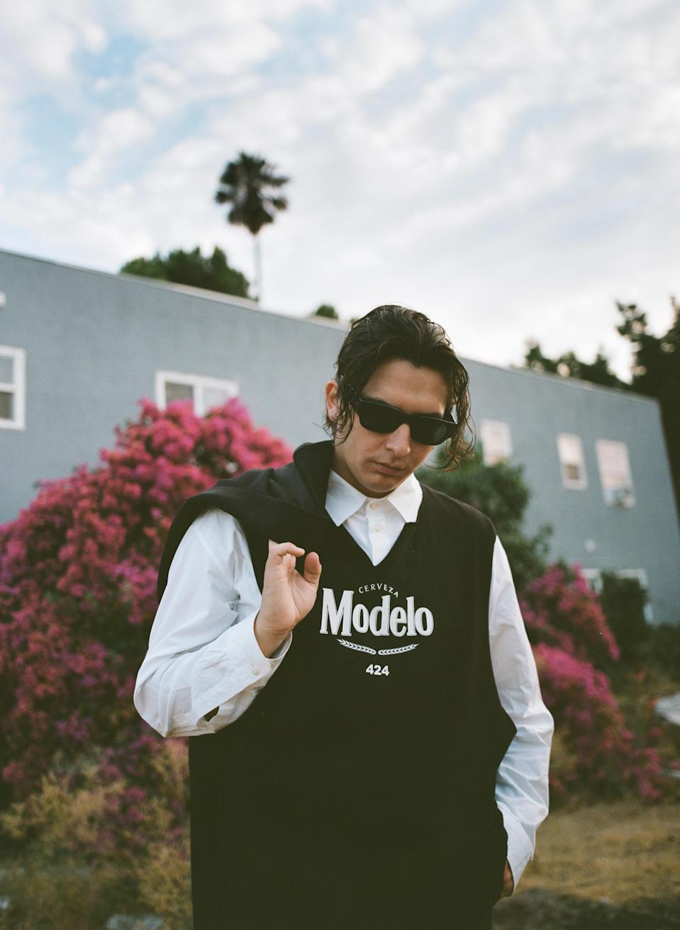 A look from the Modelo x 424 cobranded capsule collection. - Credit: Courtesy of Modelo