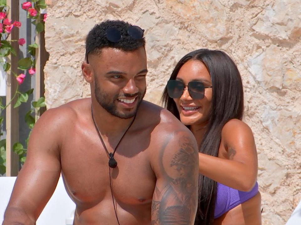 Tyler and Clarisse on 'Love Island' (ITV)