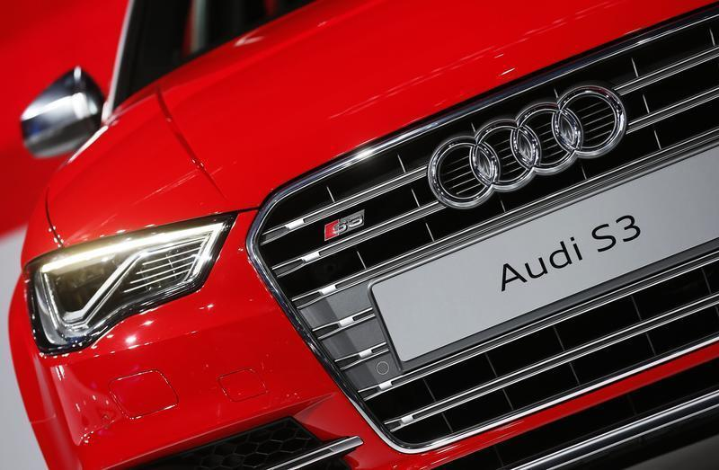The Audi S3 is presented during the 2013 Los Angeles Auto Show in Los Angeles
