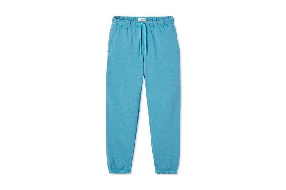 """The best way to tell the difference between Monday and, say, Thursday in the quarantine era? Change the color of your sweatpants.<br> <br> <em>Entireworld brushed sweatpants</em> $88, Entireworld. <a href=""""https://theentireworld.com/men/product/sweatpants-mens-type-c-version-5-aqua-blue"""" rel=""""nofollow noopener"""" target=""""_blank"""" data-ylk=""""slk:Get it now!"""" class=""""link rapid-noclick-resp"""">Get it now!</a>"""