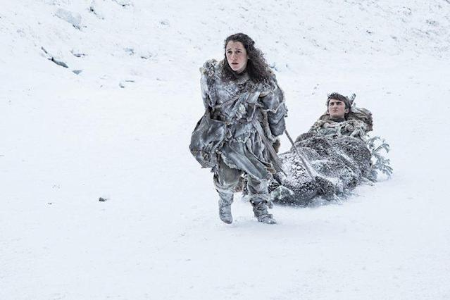 Ellie Kendrick as Meera Reed and Isaac Hempstead Wright as Bran Stark in HBO's 'Game of Thrones' (Photo Credit: HBO)