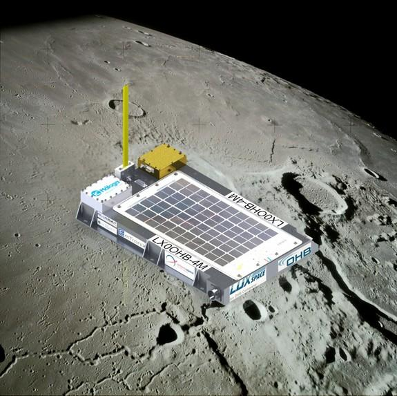 The 4M mission is dedicated to Manfred Fuchs who died early this year. 4M stands for the Manfred Memorial Moon Mission.