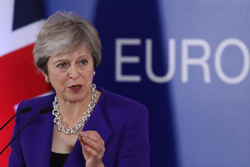 Brexit plans: Theresa May: Getty Images