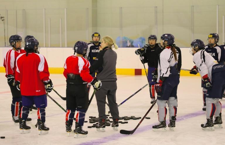 The ice hockey squad is made up of 23 South Korean players and 12 Northerners