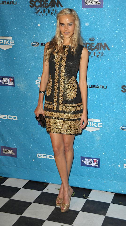 """<a href=""""http://movies.yahoo.com/movie/contributor/1810088917"""">Isabel Lucas</a> at the 2009 Spike TV Scream Awards in Los Angeles - 10/17/2009"""