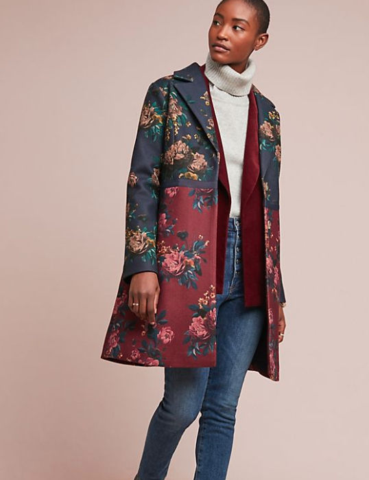 """<p>This gorgeous button up coat will dress up even the most casual outfit.<br><strong>SHOP IT: <a href=""""https://fave.co/2FtlmRc"""" rel=""""nofollow noopener"""" target=""""_blank"""" data-ylk=""""slk:Anthropologie, $130"""" class=""""link rapid-noclick-resp"""">Anthropologie, $130</a> </strong>(regular $305)<br><em>(Photo courtesy Anthropologie)</em> </p>"""
