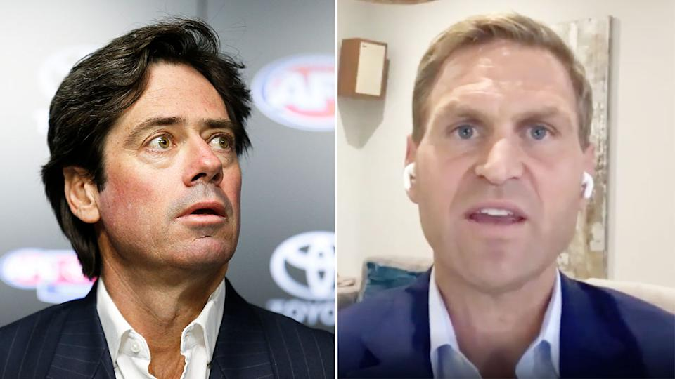Kane Cornes is not happy that the AFL bowed to Victorian pressure over WA clubs. Pic: Getty/Sen 1116