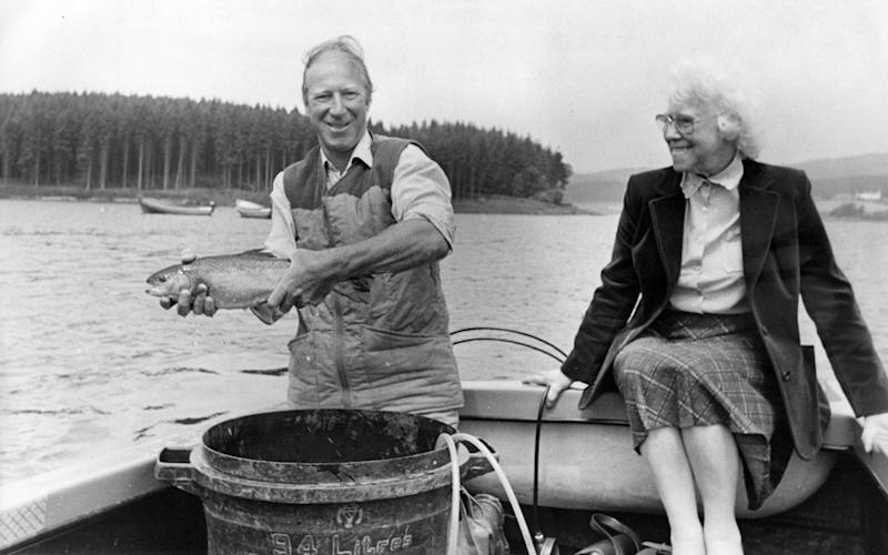 Fishing with his mother Cissie - NCJ