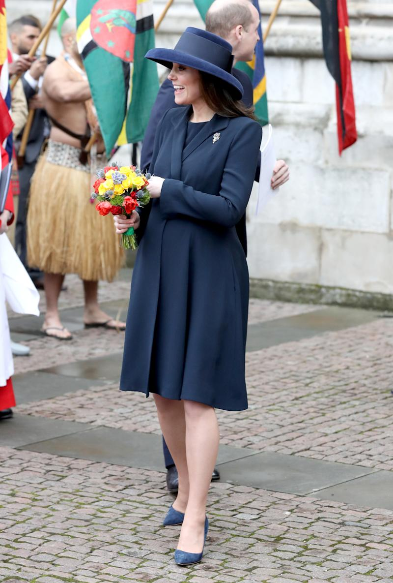 Kate Middleton outside of the Commonwealth Day Service.