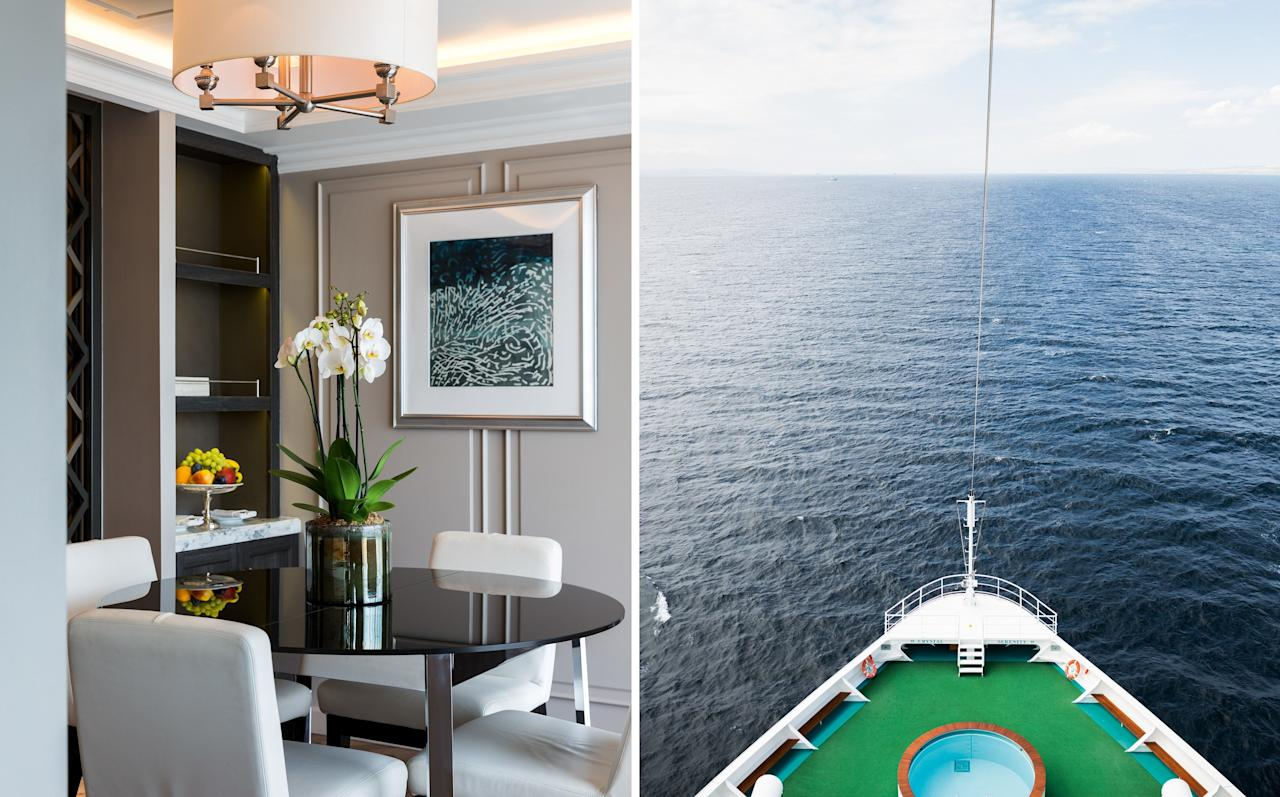 """A newly implemented <a href=""""https://www.cntraveler.com/galleries/2014-10-20/top-cruise-lines-readers-choice-awards-2014?mbid=synd_yahoo_rss"""" target=""""_blank"""">open-plan dining space</a> means everyone can now eat when—and with whomever—they choose, including at the lively, laid-back churrascaria, where servers flamboyantly carve grilled beef picanha tableside. And yes, the legendary miso black cod is still as buttery soft as ever. If you're too tired for dinner conversation after long, sunny days swimming in the shockingly cold waters of New Zealand's Bay of Islands, hop online instead: Cabins now have whip-fast Wi-Fi, which means you can post images to Instagram in no time at all. <em>South Pacific Tropical Kingdoms, from $4,549.</em> <a href=""""https://www.crystalcruises.com/""""><em>crystalcruises.com</em></a>"""
