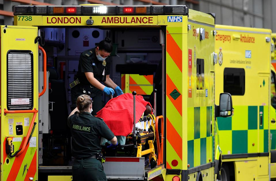 <p>Just over half of the 3,800 frontline staff at London Ambulance Service (LAS) have been vaccinated but 20 per cent have yet to book a jab and more than 50 have refused.</p> (REUTERS)