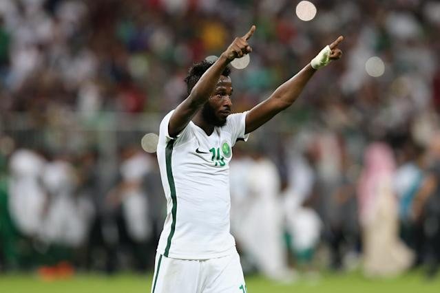 <p>Fahad Al-Muwallad is part of a Saudi Arabia squad valued at €21m. </p>