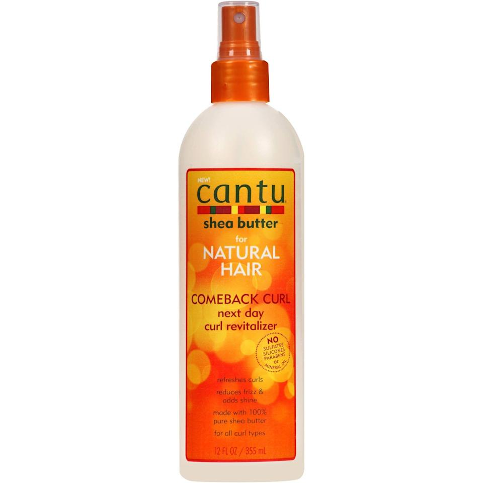 "<p><strong>Cantu</strong></p><p>walmart.com</p><p><strong>$5.97</strong></p><p><a href=""https://go.redirectingat.com?id=74968X1596630&url=https%3A%2F%2Fwww.walmart.com%2Fip%2F50029271&sref=https%3A%2F%2Fwww.cosmopolitan.com%2Fstyle-beauty%2Fbeauty%2Fg34357706%2Fbest-hair-moisturizer-sprays%2F"" rel=""nofollow noopener"" target=""_blank"" data-ylk=""slk:Shop Now"" class=""link rapid-noclick-resp"">Shop Now</a></p><p>This formula relies on <strong>water, glycerin, and 100 percent pure shea butter to add hydration and definition</strong> to second- or third-day curls that need a re-up on both. Just mist it all over until lightly saturated, and live your life.</p>"
