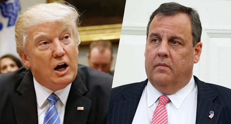 U.S. President Donald Trump and New Jersey Gov. Chris Christie. (Photos: Joshua Roberts/Reuters, Evan Vucci/AP)