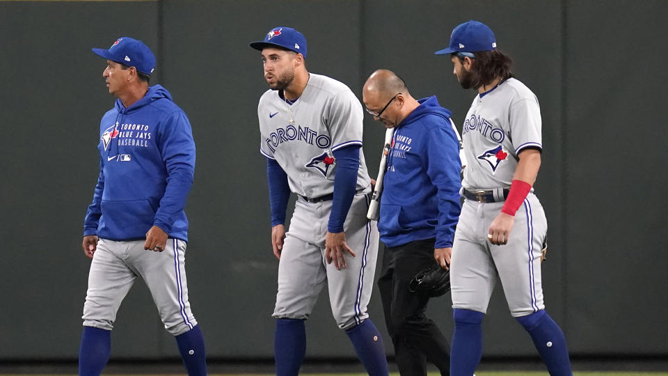 The Blue Jays will once again have to get used to life without George Springer. (AP Photo/Elaine Thompson)